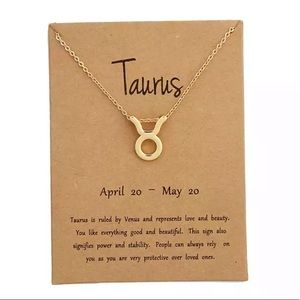 Jewelry - DAINTY 'TAURUS' ZODIAC SIGN NECKLACE